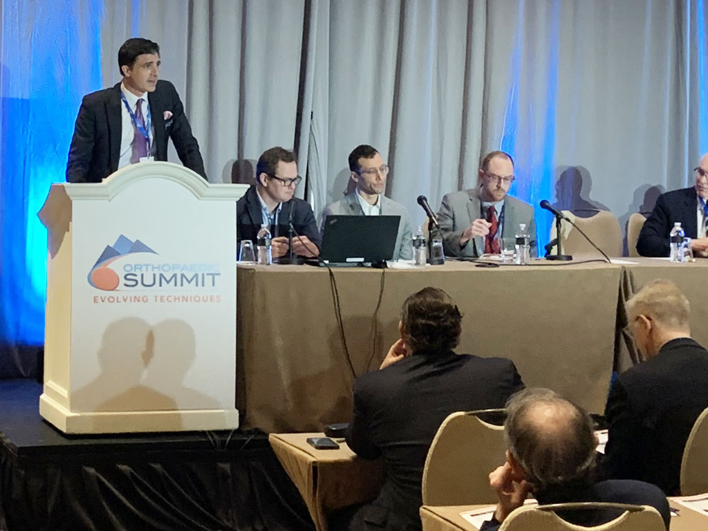 Dr. Roman lectures on regenerative treatments for the spine at the 2019 Orthopaedic Summit of Evolving Techniques, Las Vegas, NV