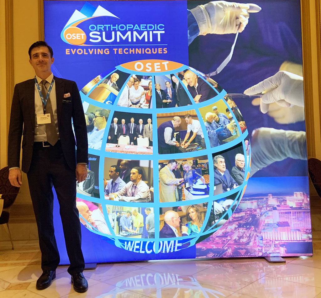 Dr. Roman lectures on multimodal pain management at the 2019 Orthopaedic Summit of Evolving Techniques, Las Vegas, NV